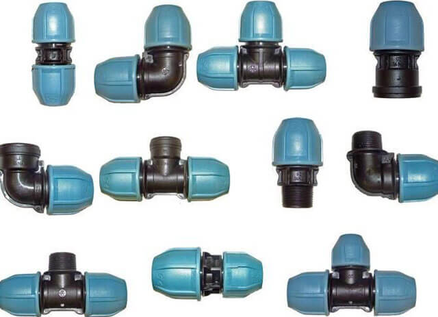 Виды фитингов для полиэтиленовых труб