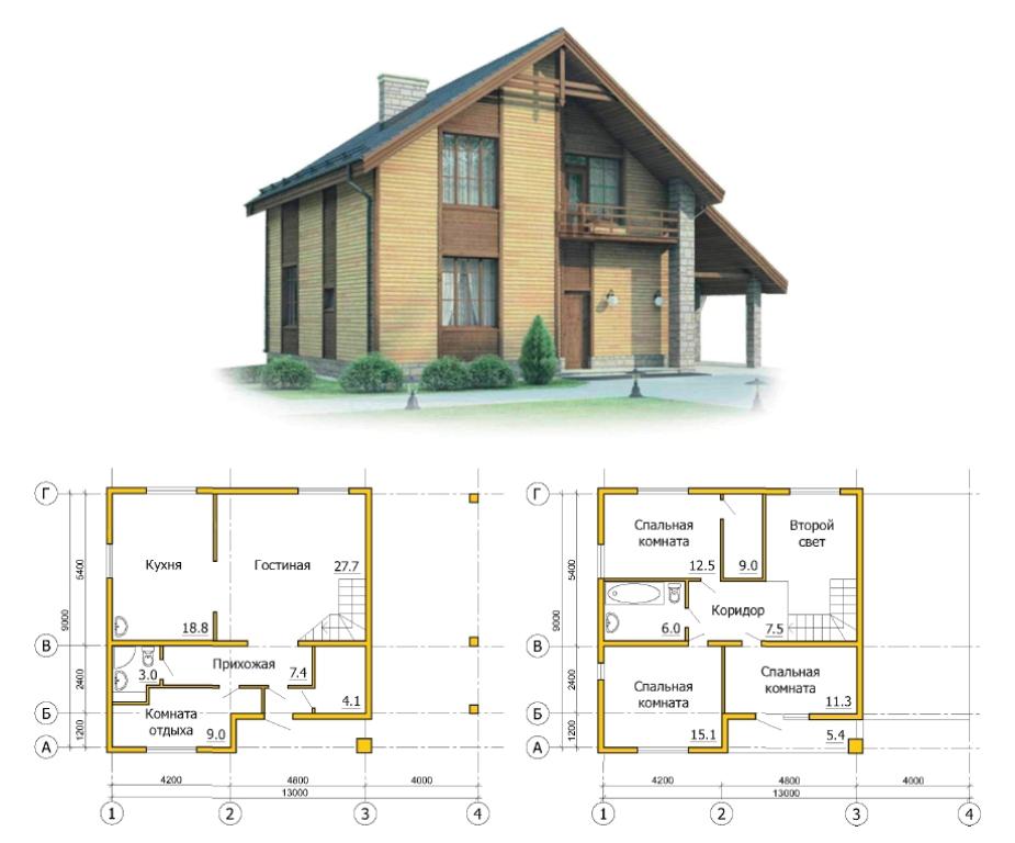Выбираем готовый проект каркасного дома